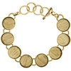 Bezel Handmade Bracelet 5/8in X 4mm Round Links Brass